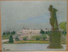 """Dessin Ancien Gouache PIERRE SUBTIL """" Versailles le Grand Trianon """" PS104"""