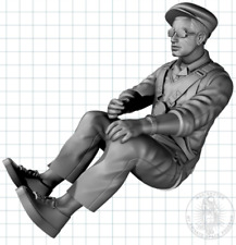Full body 3d printed Vintage Glider pilot for RC warbirds - all scales