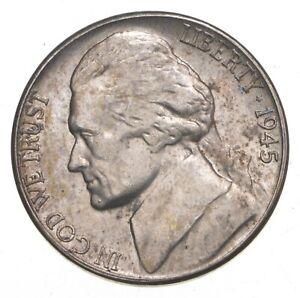 5c BU Unc MS 1945-S Jefferson WARTIME Silver Nickel *589