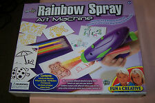 Rainbow Spray Art Machine NEW in Box Ages 6+ Fun & Creative 24 Piece Set Gift It