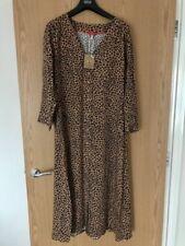 JOULES Genevieve Leopard Print V Neck Button Through Dress Sz14 BNWT