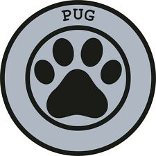 1x Pug Paw Print Seal Track Funny Sticker Dog Pet Decal Vinyl