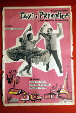 TAXI LOUIS DE FUNES HUNEBELLE FRENCH 1959 RARE EXYU MOVIE POSTER