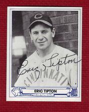 ERIC TIPTON Rare Autograph MLB 1939-45 Auto Signed Hit .301 in 1944 CINCINNATI