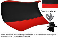 RED & BLACK CUSTOM FITS KAWASAKI NINJA ZX6R 05-06 600 FRONT LEATHER SEAT COVER