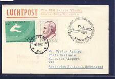 18671) Niederlande KLM FF Amsterdam - Monrovia 5.11.60 Karte ab Polen R!
