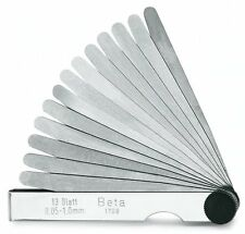 BETA TOOLS 1708/20 METRIC FEELER GAUGES  0.05 mm - 1 mm