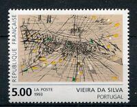 FRANCE - 1993,  timbre 2835, TABLEAU VIEIRA da SILVA, neuf**, PAINTING MNH STAMP