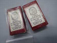 2 Vintage Excelsior Torrington Sewing Machine 135x7 Size24 Needles Singer w/ Box