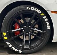 "Tire Lettering Pre-Curved Permanent Raised Letters Mopar Logo White Rubber 1.25/"""
