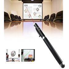 Puntero Láser Negro 4 in1 Pantalla Táctil LED antorcha Ball Pen Stylus iPhone iPad