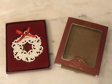 2011 Lenox Christmas Wrappings Holly Berry Wreath Ornament