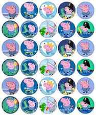 30 x Peppa Pig George Pig decorazioni per cupcake wafer commestibile Carta Fata Cake Topper
