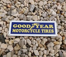 """GOODYEAR Motorcycle Tires Service Gas Station Shop Metal Sign 5x12"""" 50186"""