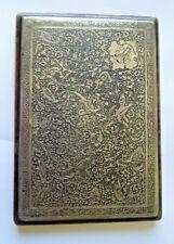 boite,etui a cigarette box persian islam iznik ottoman SILVER argent , 147 gr
