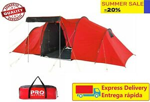 ProAction 6 Person Tent 2 Room  Waterproof  Camping Family Hiking with carry Bag