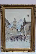 Bernard Rambaud (xix-xxème). Chasseurs Alpins à Ste-Foy-Tarentaise.