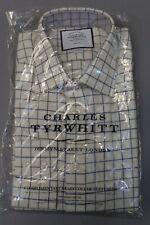 Charles Tyrwhitt Men's Slim Fit Shirt Check Shirt Navy & Green SI1 15.5/34 NWT