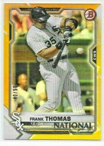 2021 Topps National NSCC Bowman FRANK THOMAS Gold Foil #'d 42/50 White Sox