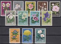 AK5348/ JAPAN – FLOWERS – Y&T # 664 / 675 COMPLETE MINT MNH