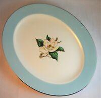 "Lifetime LTC12 Oval Serving Platter 12""  Turquoise & Magnolia Homer Laughlin"