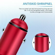 Car Charger Adapter 12-24V Dual Port 4.8A Fast Charging Vehicle Adapter Red