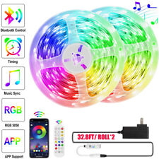 65 FT RGB 5050 Bluetooth Led Strip Lights SMD Flexible LED Lamp 12V DC Power Kit