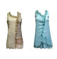 Pretty Angel Size S M L  Ruffle Shirt Top / Caramel or Aqua 65583