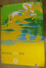 A0 - ORIGINAL Plakat - Olympische Spiele 1972 / Motiv Springreiten