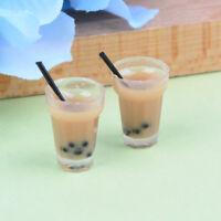 Puppenhaus Miniatur Tee Mit Milch Tassen Essen Trinken Getränke Spielzeug De bc
