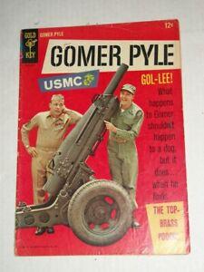 Gold KEY GOMER PYLE USMC #1 (1966) Top Brass Pooch, Warren Tufts, Jim Nabors