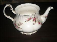 """Royal Albert """"Lavender Rose"""" tea pot no lid used"""