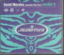 DAVID MORALES Needin' U CD UK Manifesto 1998 3 Track Original Mistake Radio
