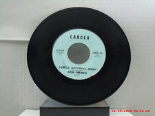 DON FRENCH -(45)- LONELY SATURDAY NIGHT / GOLDILOCKS - LANCER RECORDS-104 - 1959