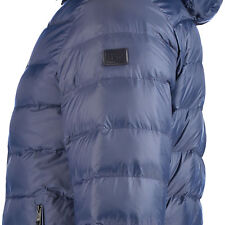 ARMANI JEANS Navy 2 in 1 Reversible Down Puffer Jacket With Hood M Slim Fit