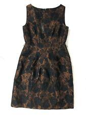 NWT Talbots Dress Size 8 Formal Sleeveless Dress Floral Brown $189
