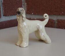 Ceramic Afghan Hound Statuette