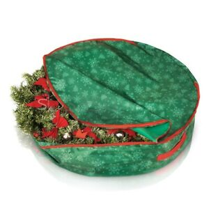 """Large Christmas Wreath and Decoration Storage Container Bag Xmas Items up to 75"""""""