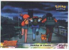 POKEMON English BLUE TOPPS LOGO Card # 14 MARINA IN CHAOS ( Pikachu )