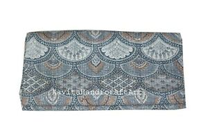 Indian Cotton Handmade Ethnic Coverlet Kantha Quilt Throw Applique Bedspread Art