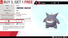 ✨Shiny Gengar✨Pokemon Sword and Shield Gmax Perfect IV Timid 🚀Fast Delivery🚀