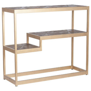 Recycled Elm Wood & Iron Console Table