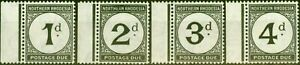 Northern Rhodesia 1929 Postage Due Set of 4 SGD1-D4 Fine Very Lightly Mtd Mint