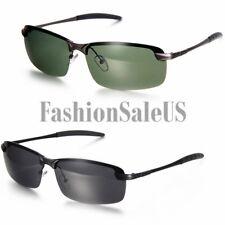 Para Hombre Polarizado Metal medio marco Gafas De Sol Cool Eyewear Pesca Golf Gafas