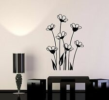 Vinyl Wall Decal Beautiful Flowers Bouquet Flowerbed Nature Stickers (978ig)