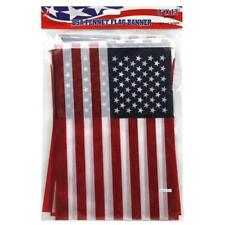 13ft 8x13 Inch American Flag Pennant Banner String Flag Rope Garage Sale, Sports