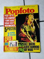 Popfoto  Musik Magazin Nr. 8/1974  (guter zustand) Beatles Cover (ohne  Poster)