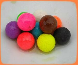 12mm MIXED COLOUR POP-UPS BOILIES. UNFLAVOURED OR  FLAVOURED & WITH DIP/GLUG