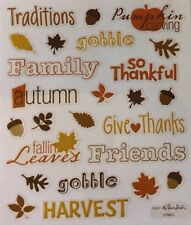 Thanksgiving/ Holiday  Scrapbook Stickers