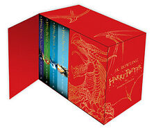 Harry Potter Hardcover Books 1-7 Complete Series UK Edition Collectors Boxed Set